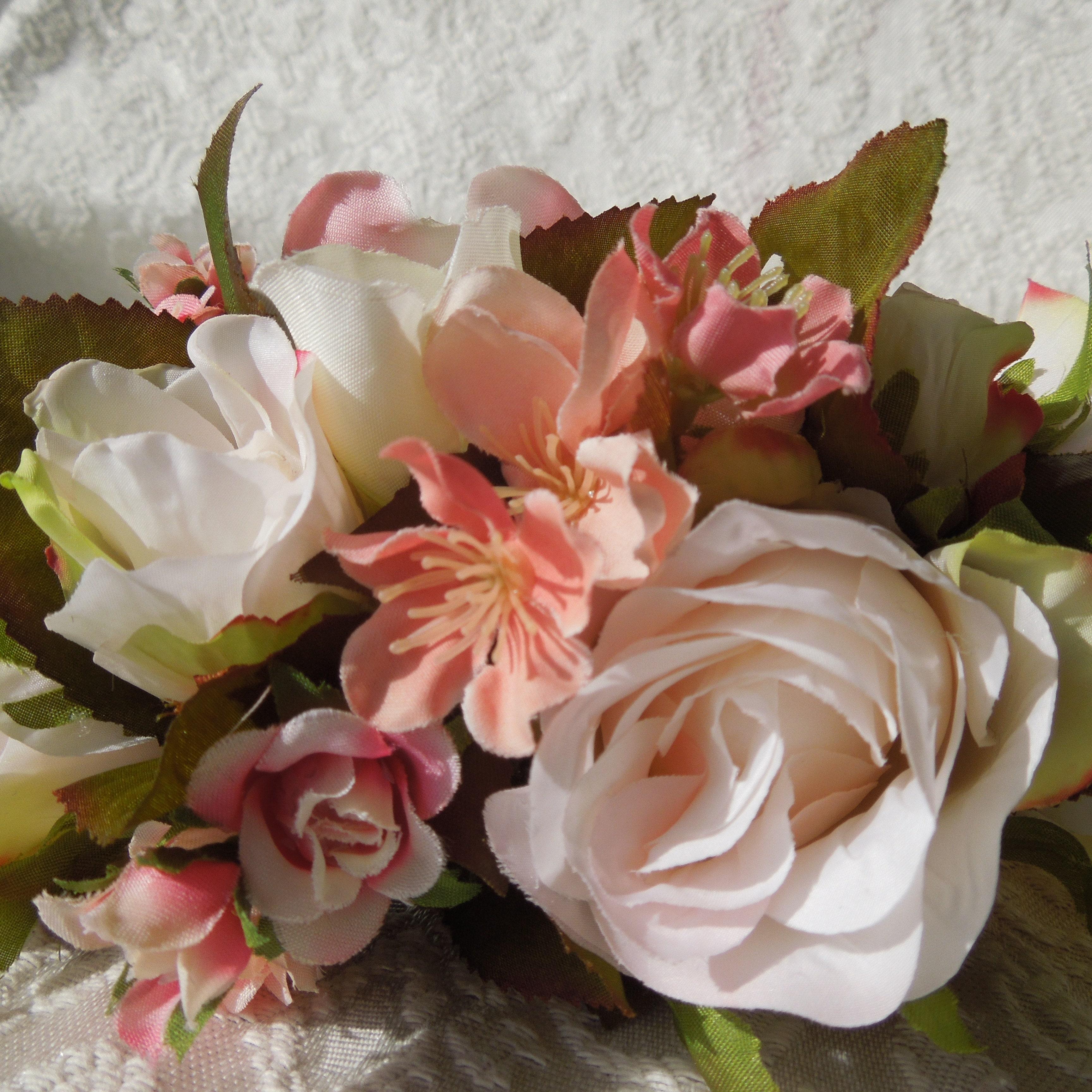 Floral head piece bridal crown coral flower crown vintage etsy izmirmasajfo