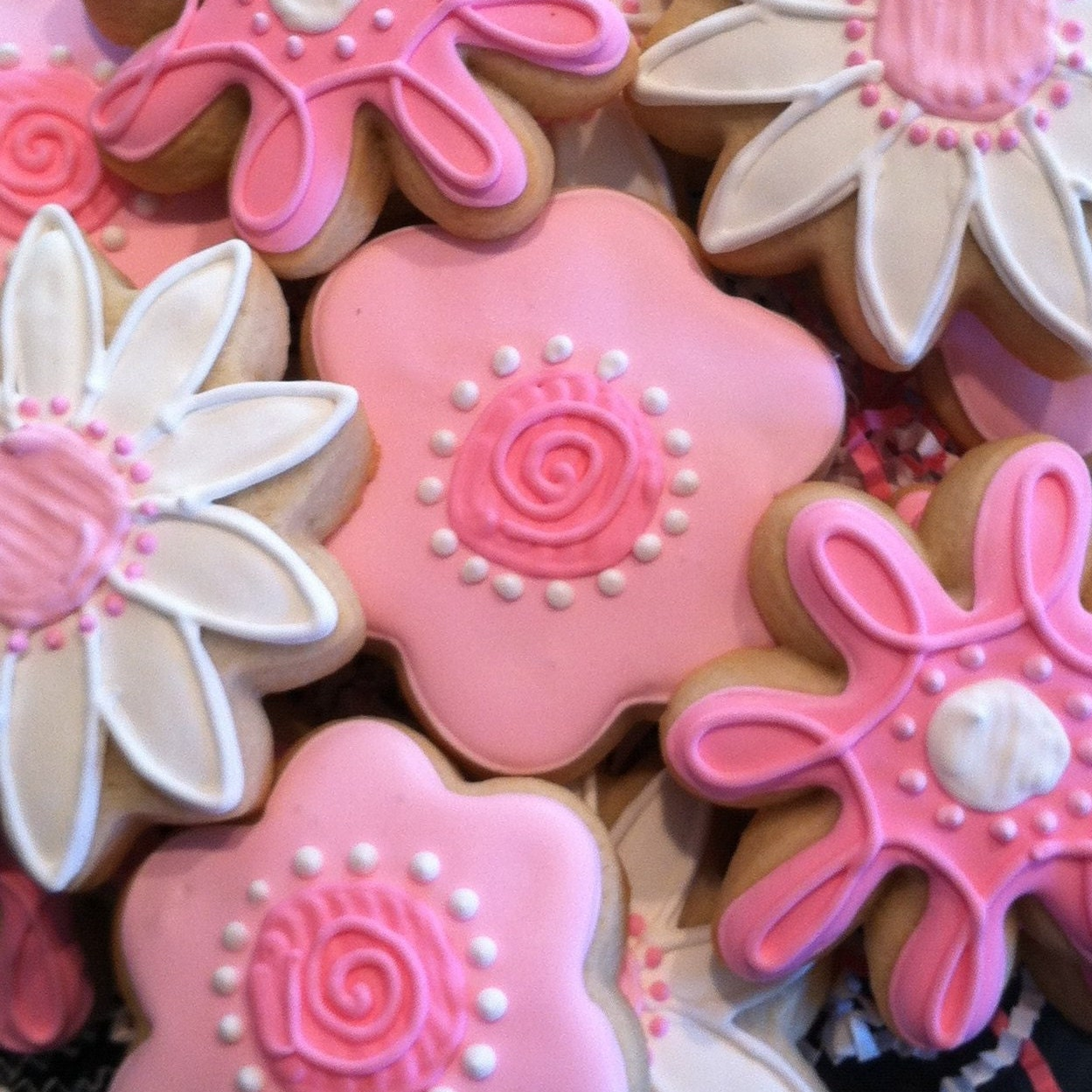 Flower Cookies Mothers Day 1 Dozen Decorated Sugar Etsy