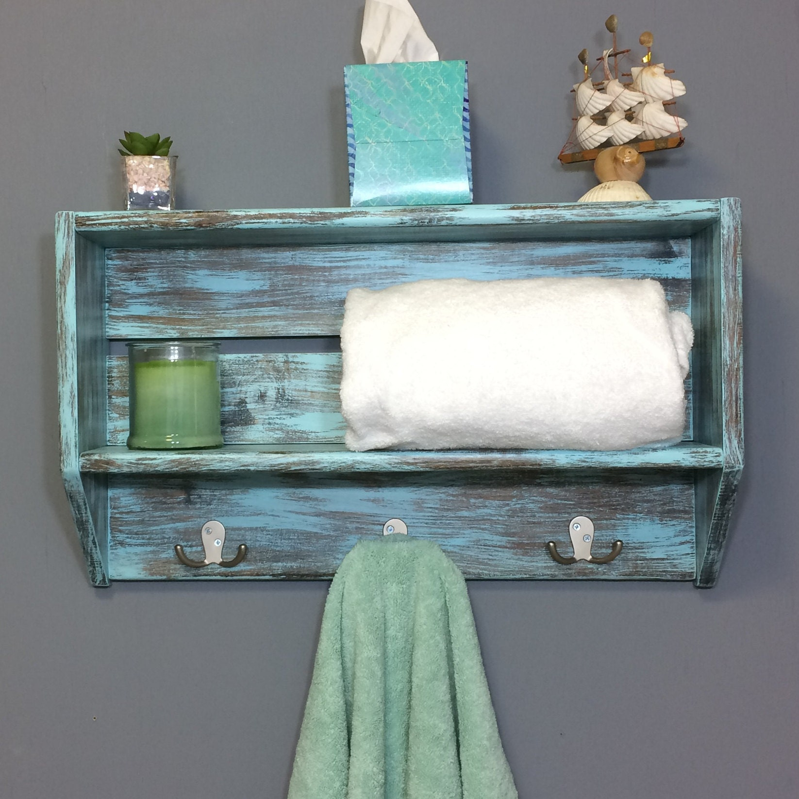 bathroom shelves bathroom wall shelf towel rack shelf | Etsy