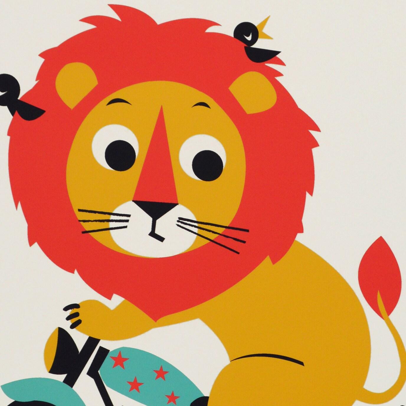 Childrens animal alphabet Nursery wall art ABC print size A3 | Etsy