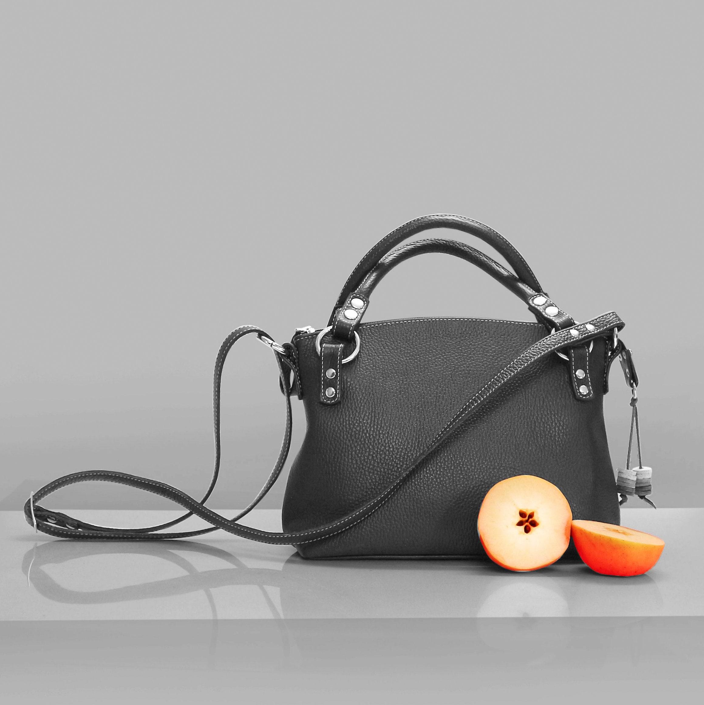 Leather bag charm 7 pendant zipper pull handbag decoration molded handpainted leather orchid