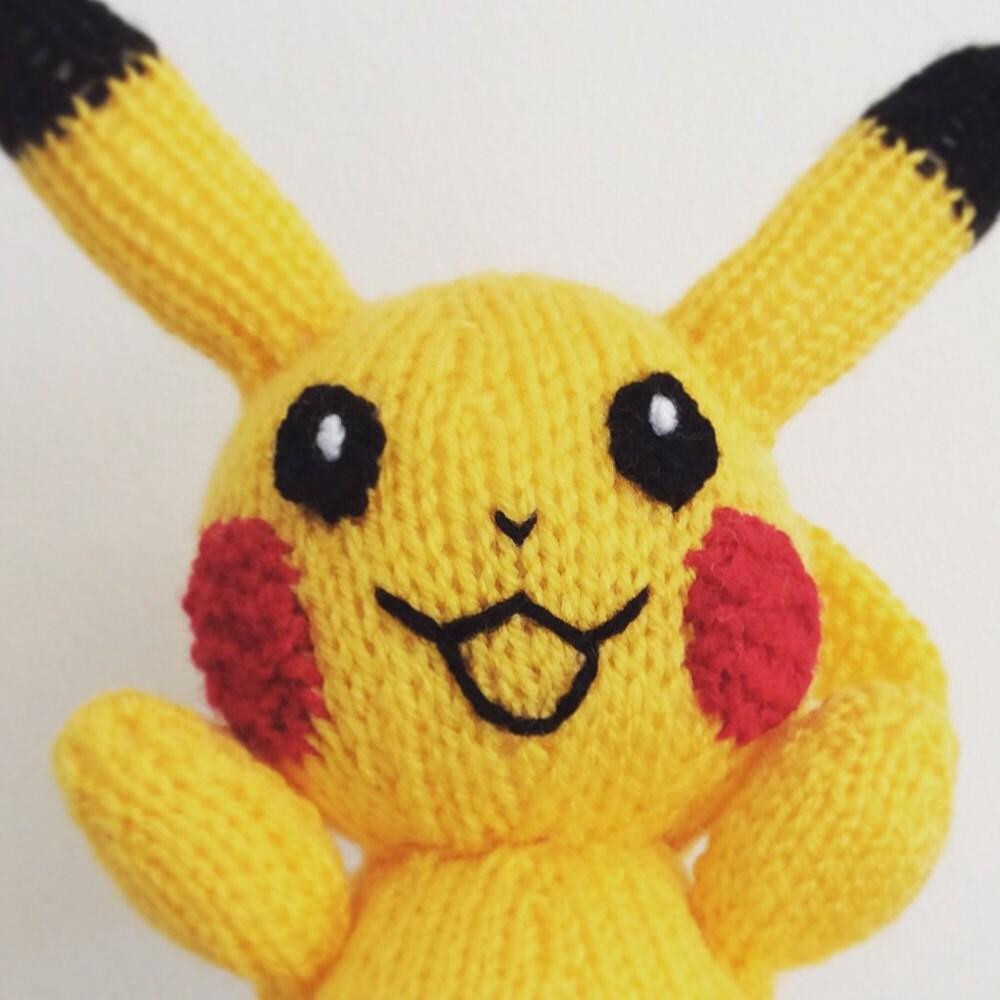 Pikachu Knitting Pattern Pokemon Doll Amigurumi Pattern Pdf Etsy