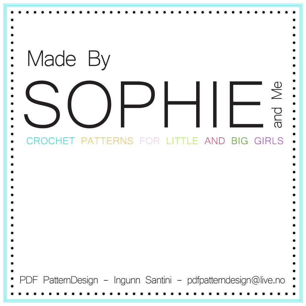 242c03414b5400 Sophie and Me by PdfPatternDesign on Etsy