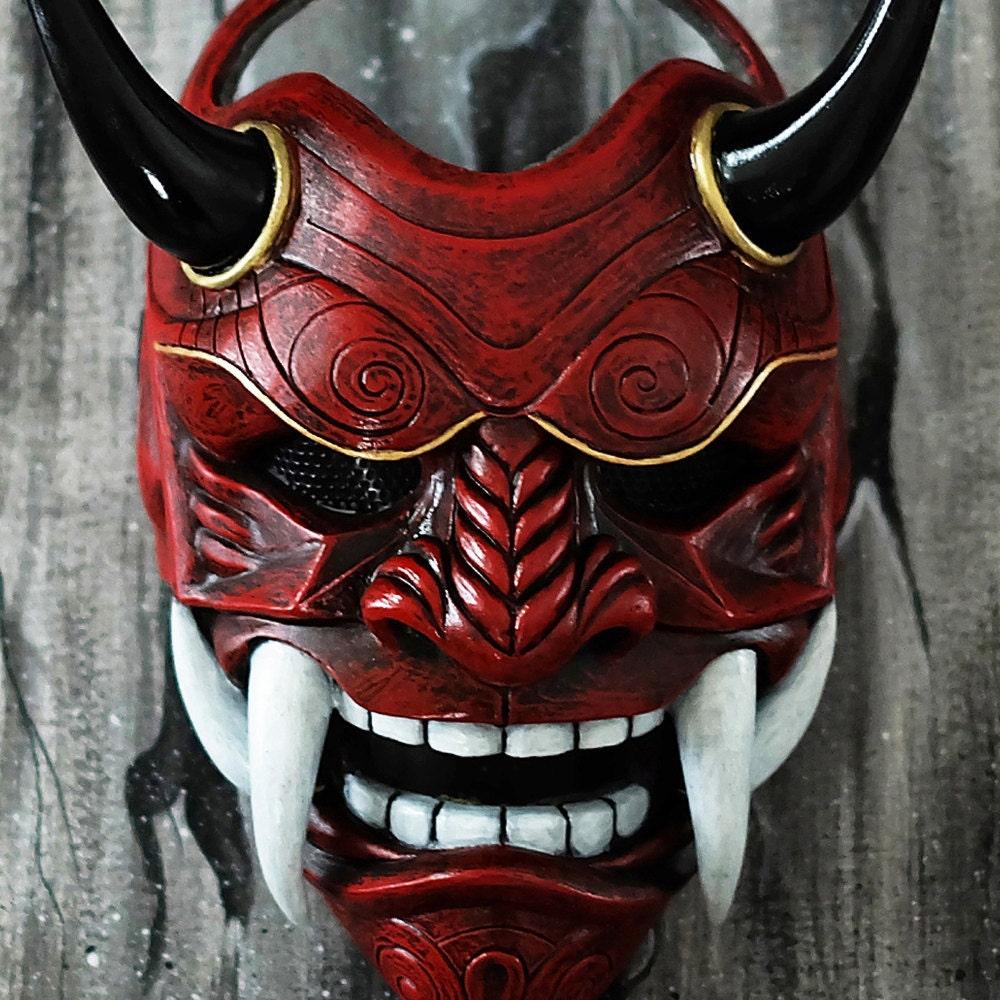 HALF COVER AIRSOFT MASK BB GUN DJ COSTUME DEMON SAMURAI KABUKI ONI ONIMARU MA233