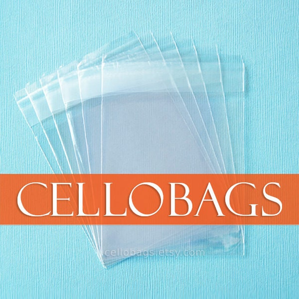 """200 Qty 3/"""" x 5-1//2/"""" Crystal Clear  Flat Open End Cello Bags 1.5 Mil"""