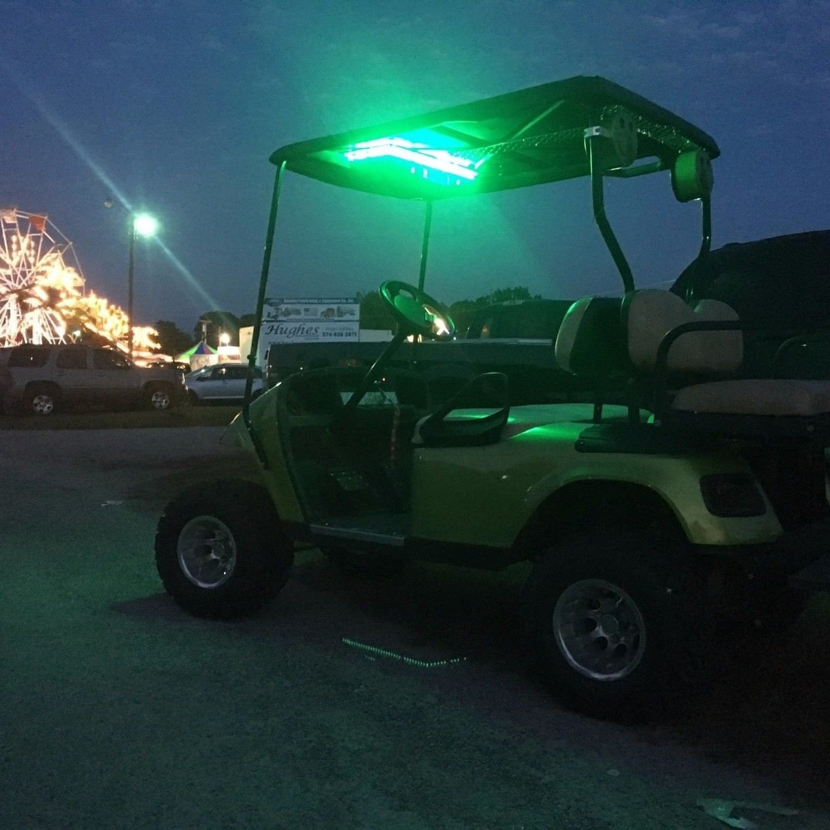 Tower Golf Cart on vise towers, plough towers, plastic storage towers,