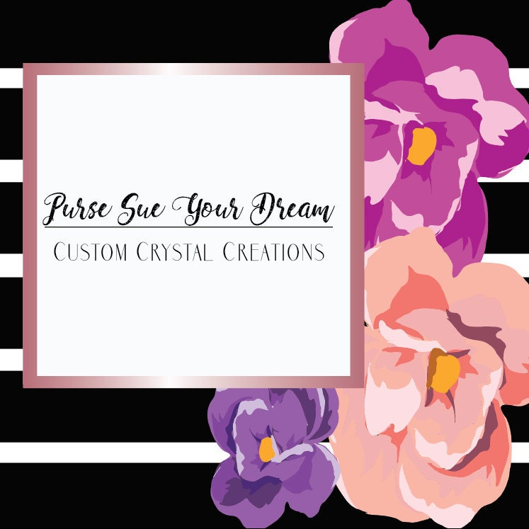 Purse Sue Your Dream Custom Crystal di PurseSueYourDream su Etsy
