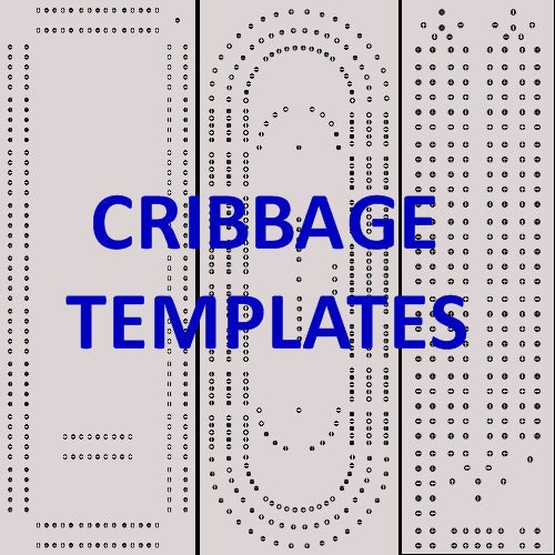 photograph about Printable Cribbage Board Template referred to as Printable Cribbage Board Templates via CribbageTemplatesFS upon