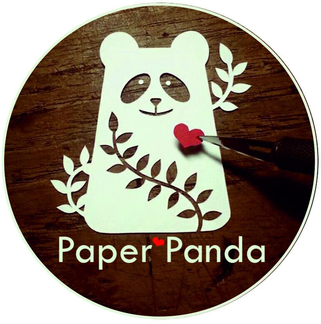 Paper Panda von PaperPandaPapercuts auf Etsy