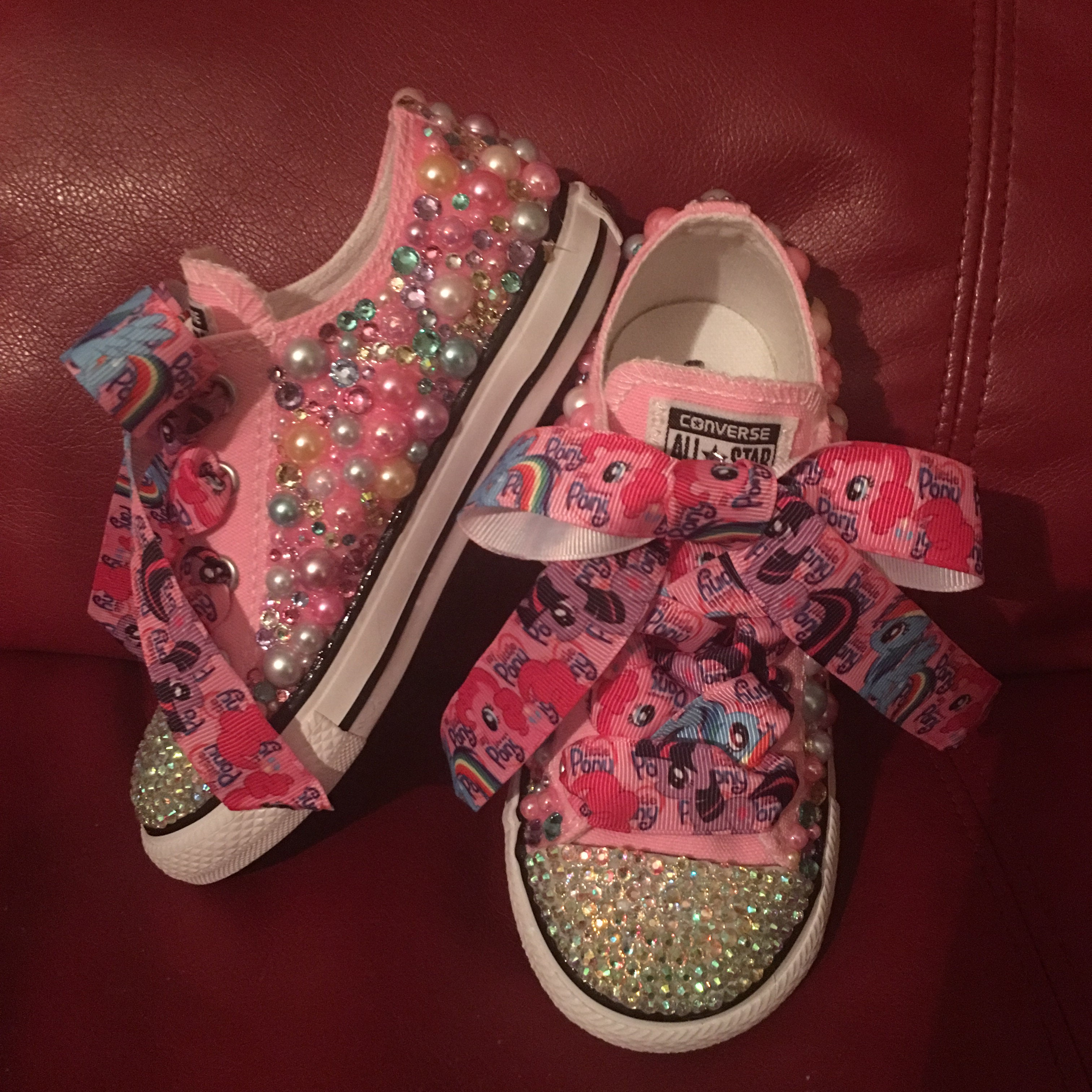 e48f399caefce9 The Princess Tiana Swarovski Crystal converse
