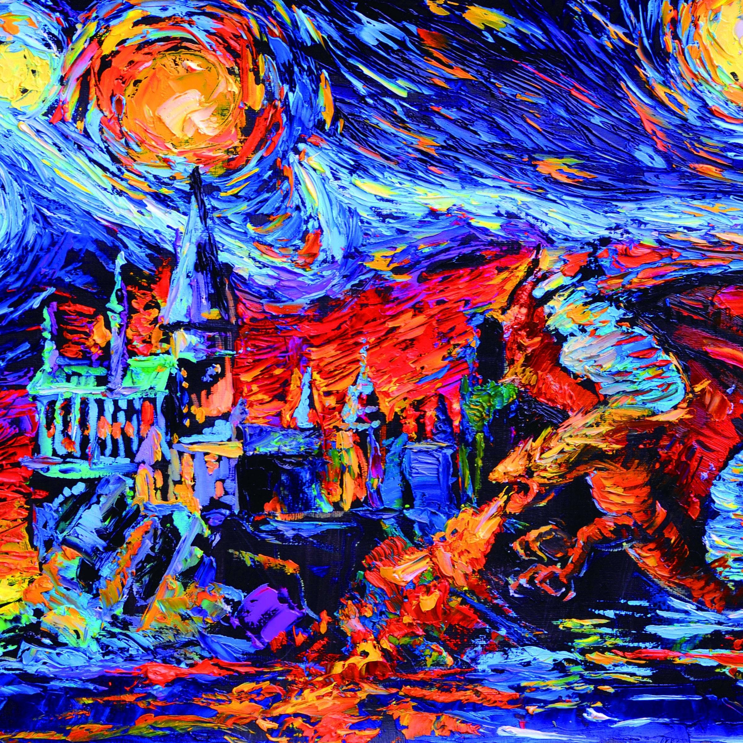 Vincent Van Gogh Sternennacht Poster Prinzessin Cinderella und Schuhe inspiriert Leinwand Wand Kunst Kinderzimmer Dekor Wand Dekor A027