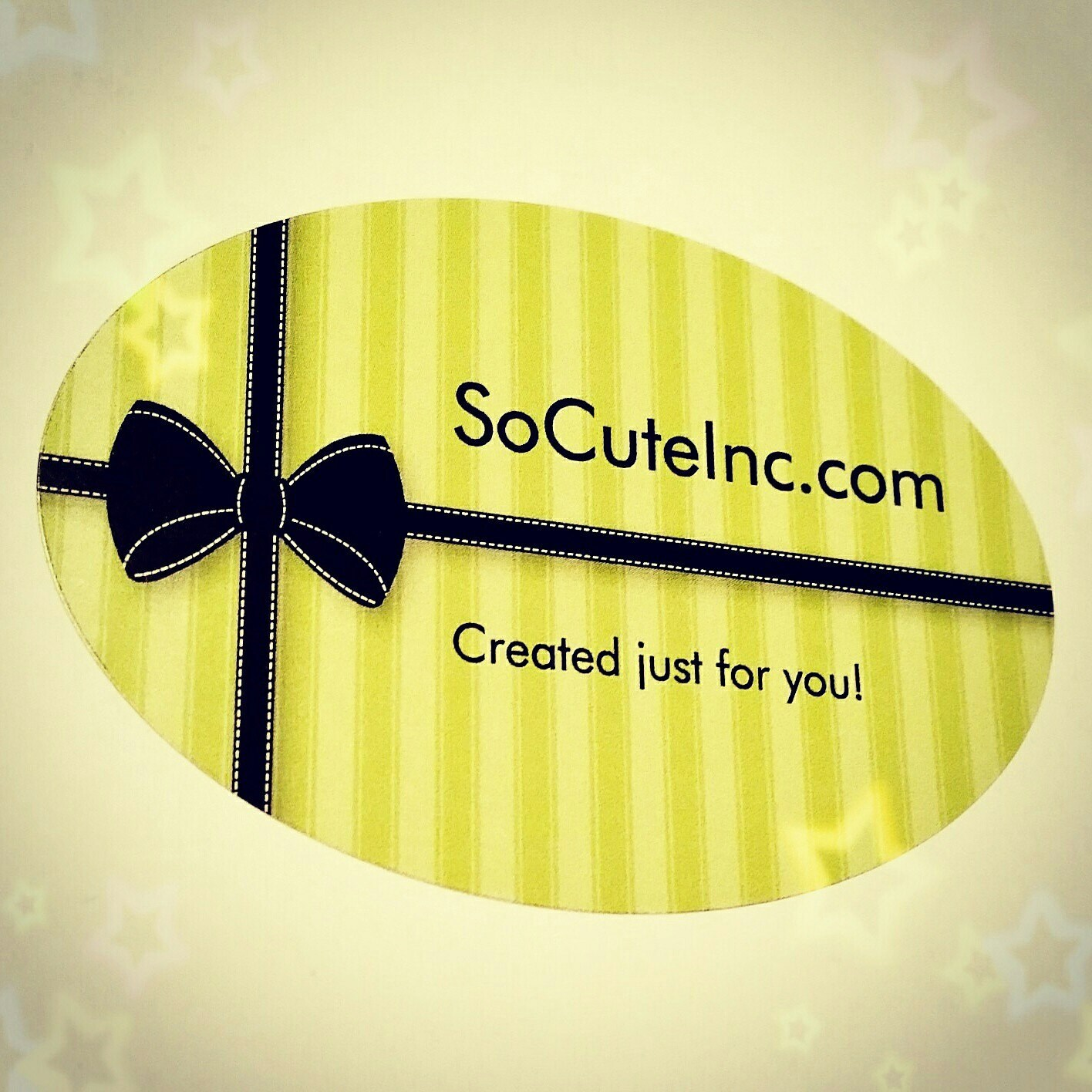 So Cute Inc. Created Just For YOU by SoCuteInc on Etsy