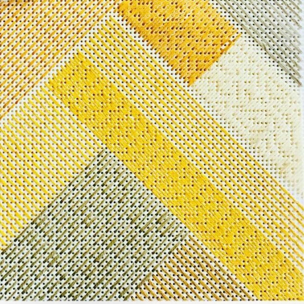 Fiber art wall hanging. Modern cross stitch woven wall | Etsy