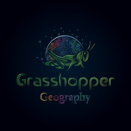 High quality digital map prints from a by GrasshopperGeography