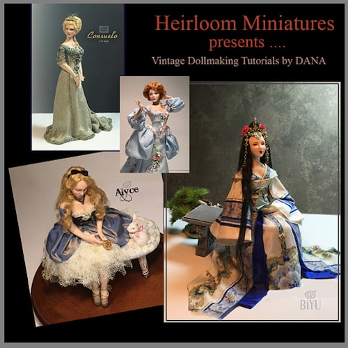 1:12 scale Miniature Doll Art Tutorials ~ Patterns ~Clothes//Hair///& more CONSUELO
