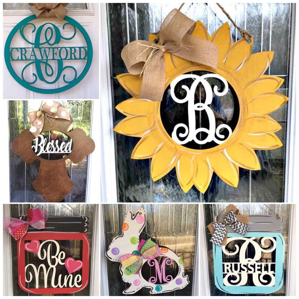 Creator of custom door hangers and signs by WhippoorwillCharm