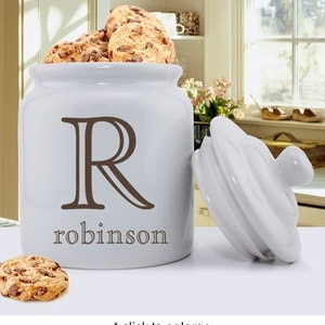 Personalized Stamped Design Cookie Jar Personalized Cookie Etsy