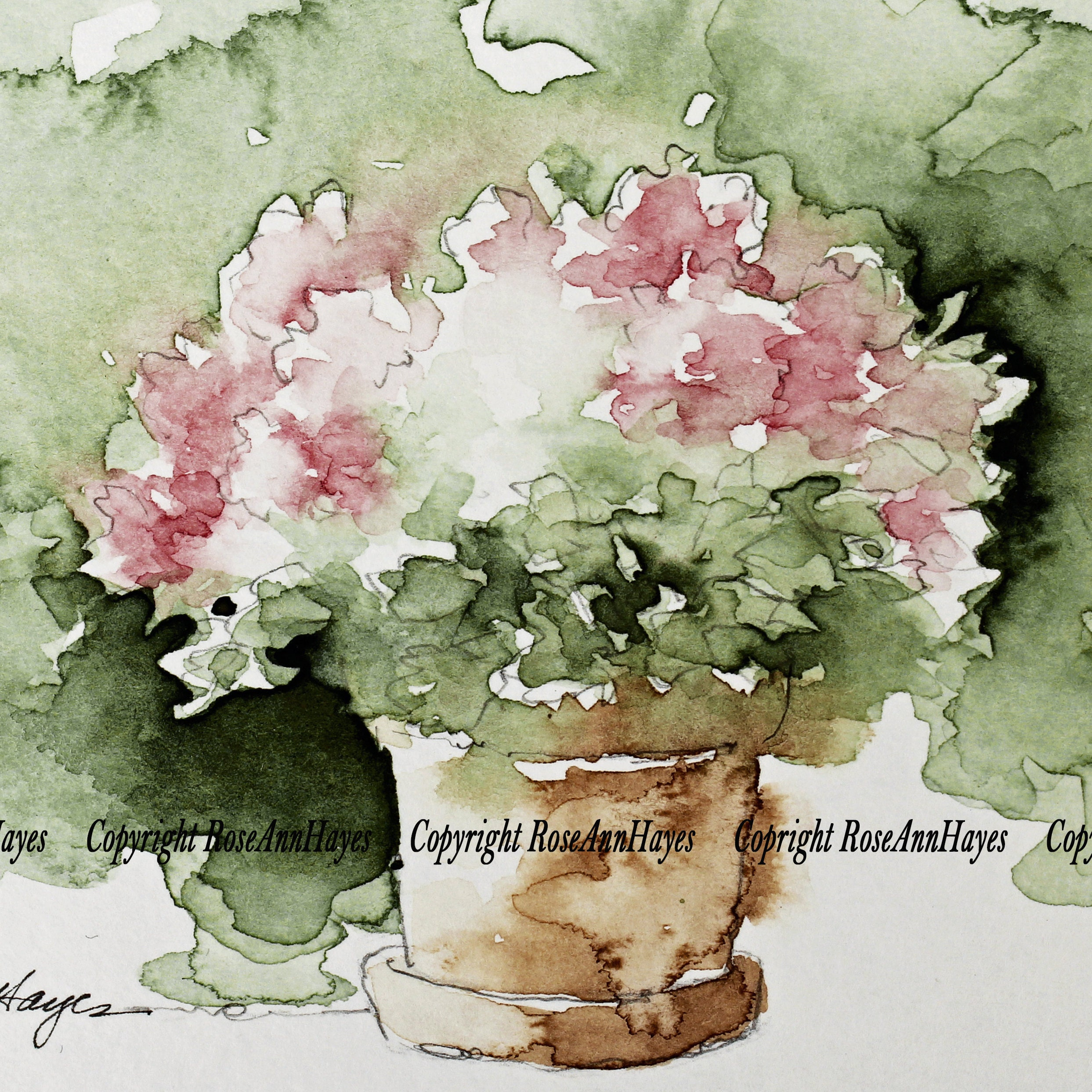e2eb2d6e1c342 Watercolor Paintings by RoseAnn Hayes by RoseAnnHayes on Etsy
