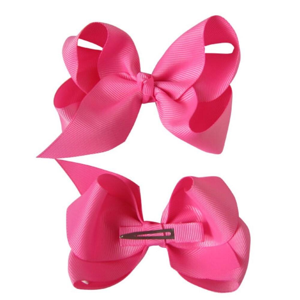 25pcs 6inch big Ribbon Bows Hair Bow with Soft Headband Baby Accessory Hairband