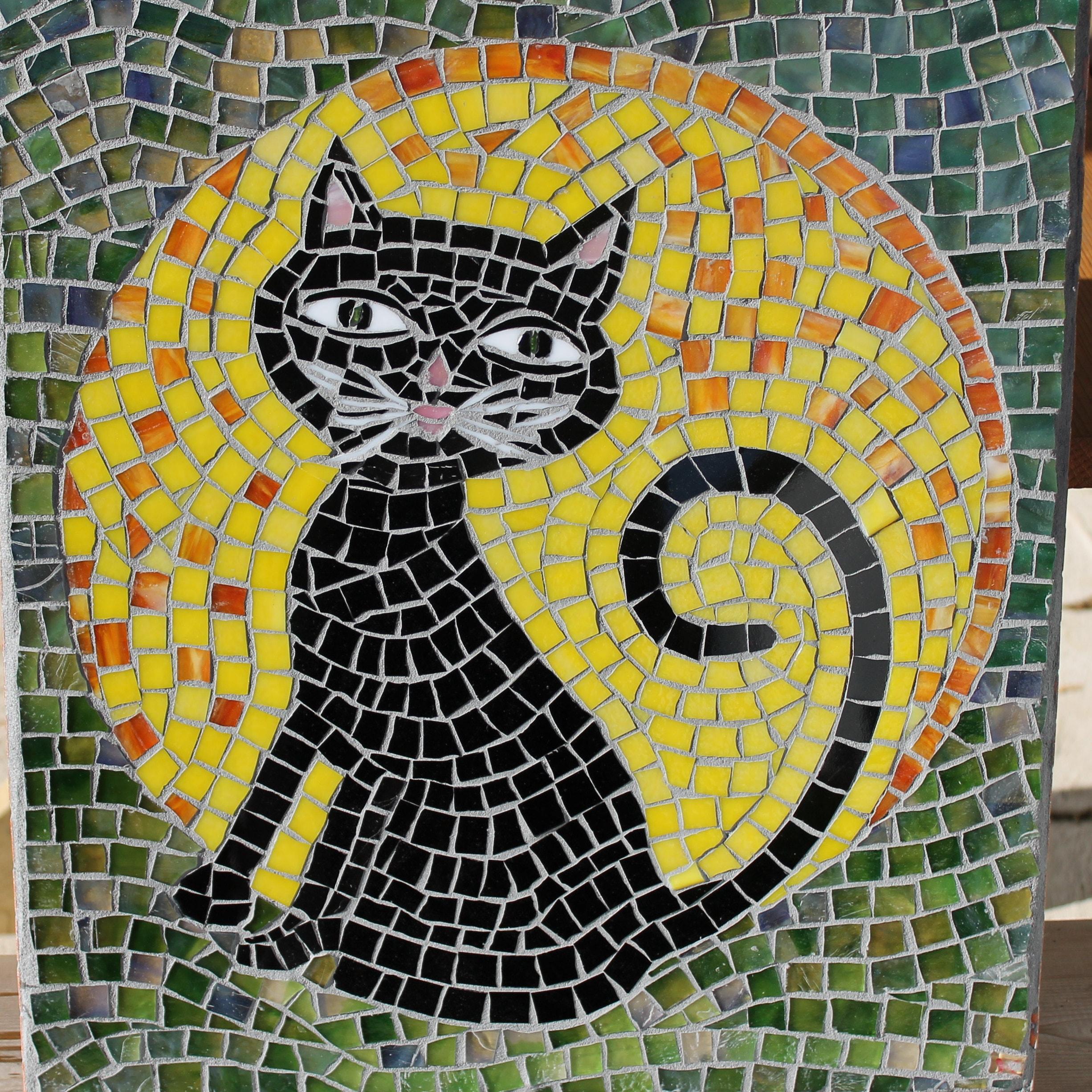 Mosaic Heart with Iris WALL Art Panel WINDOW Panel | Etsy