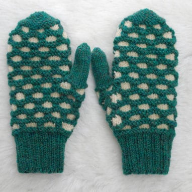 Traditional Newfoundland Honeycomb Double Knit Mittens Heather Etsy
