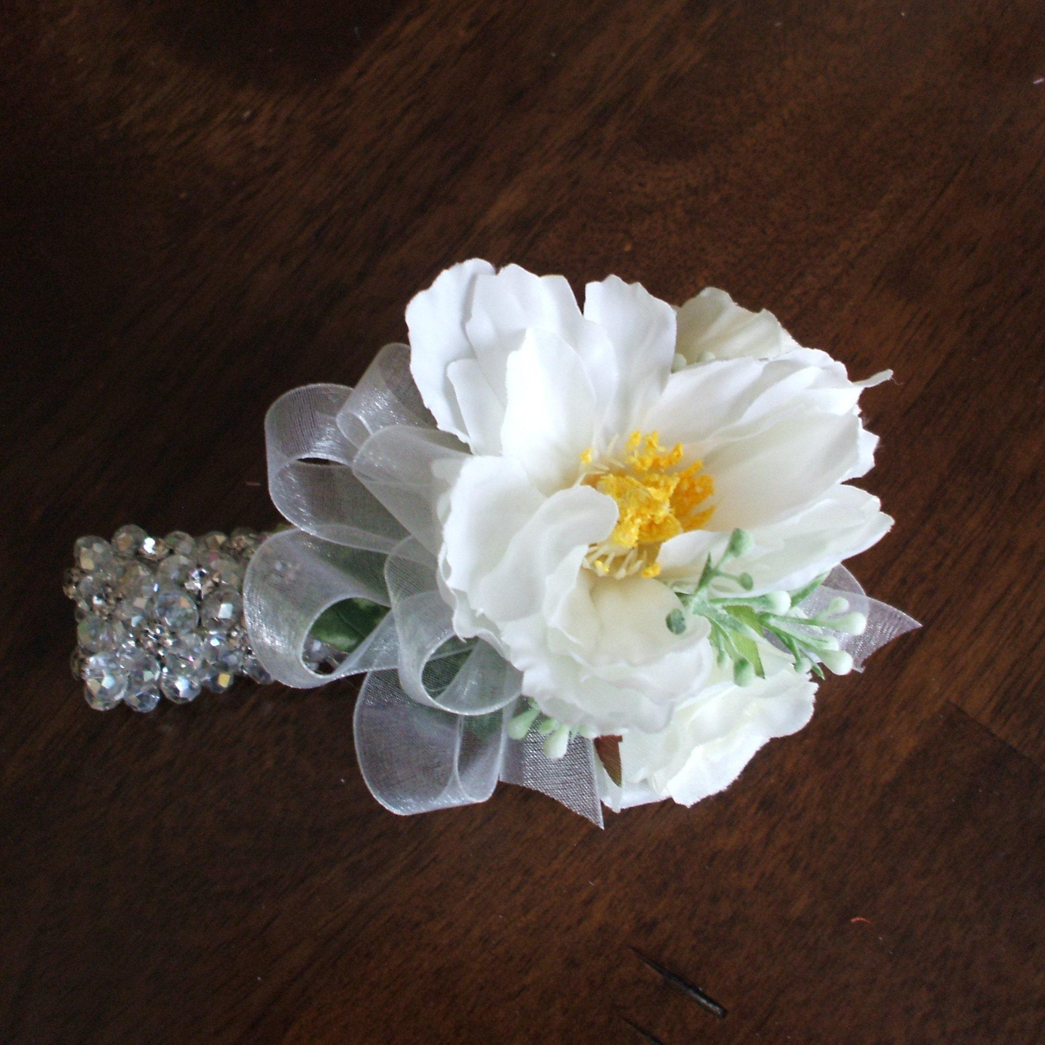 Wedding Corsage Bracelet Prom Corsage Bracelet Wrist Etsy