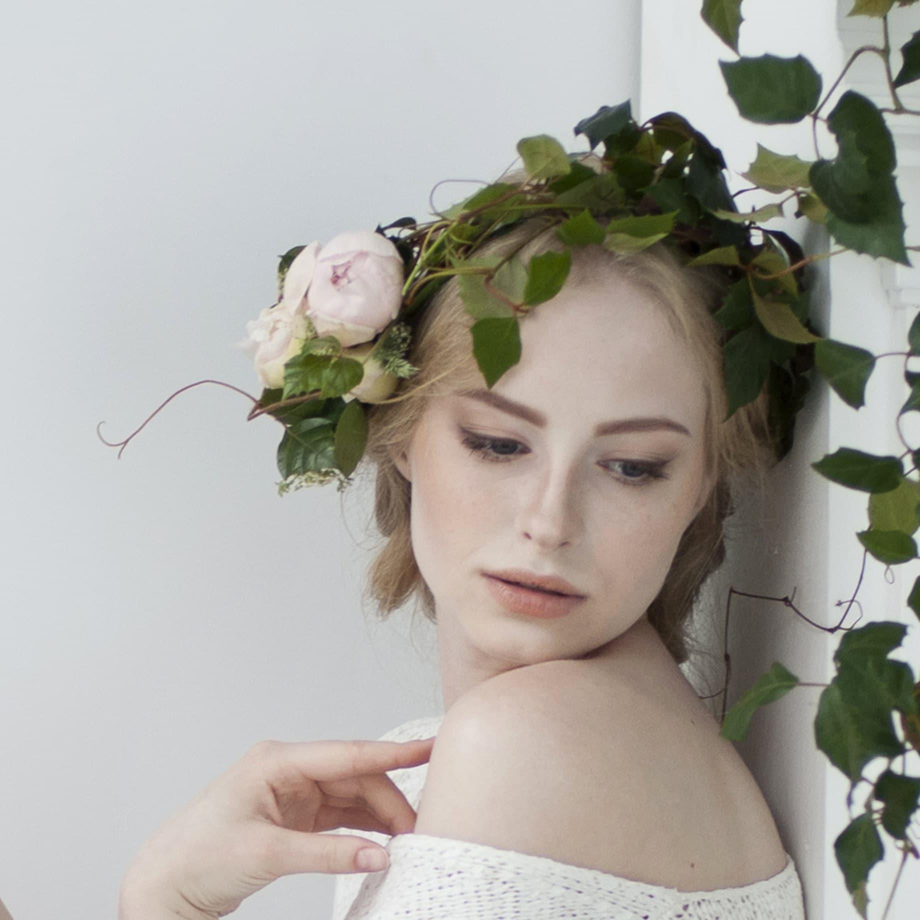 Flower Crown Bridal Flower Crown Roses Flower Crown Dry Etsy