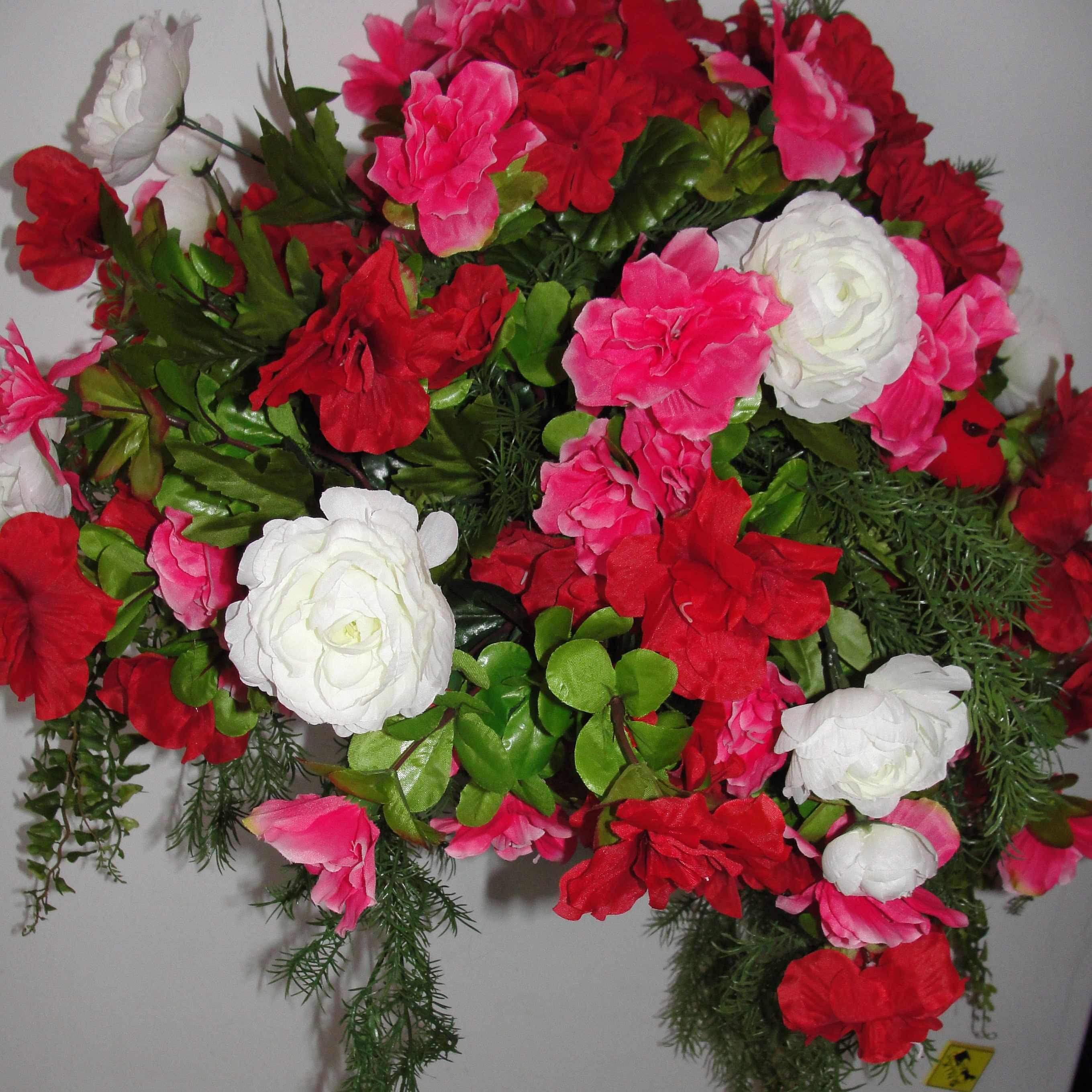 Mothers Day Grave Flowers Cemetery Saddle Silk Flowers Etsy