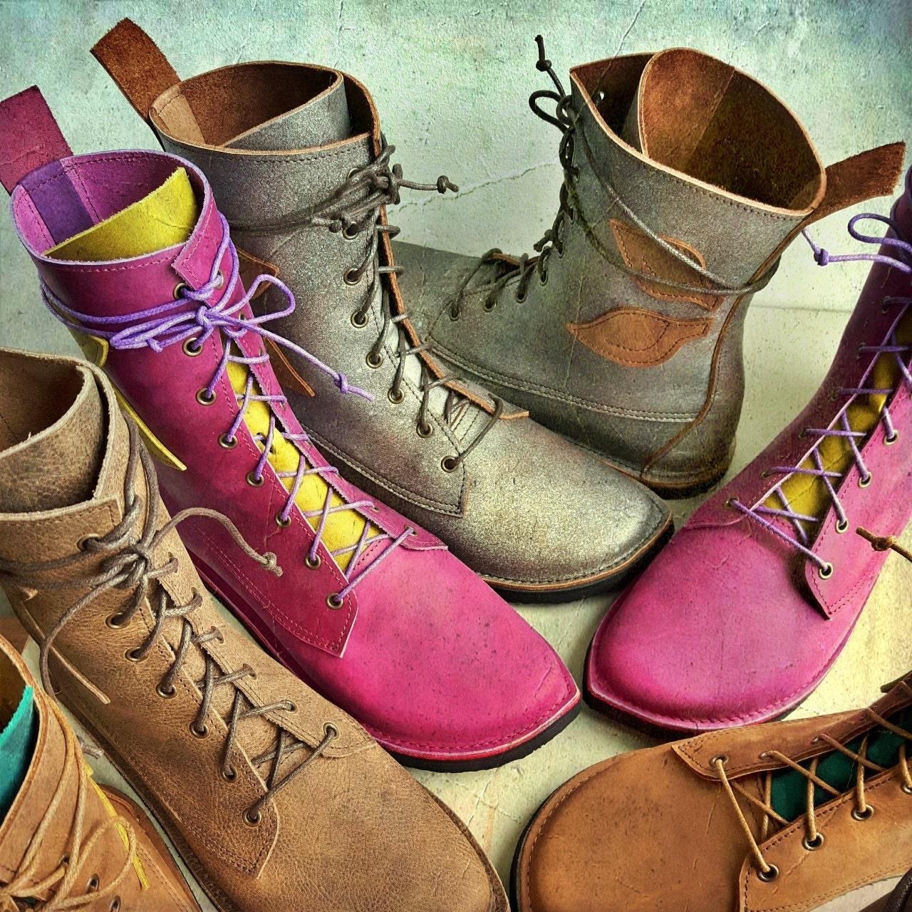 Damen Canadian Boots dunkelbraun rot Winterschuhe Gr. 3738