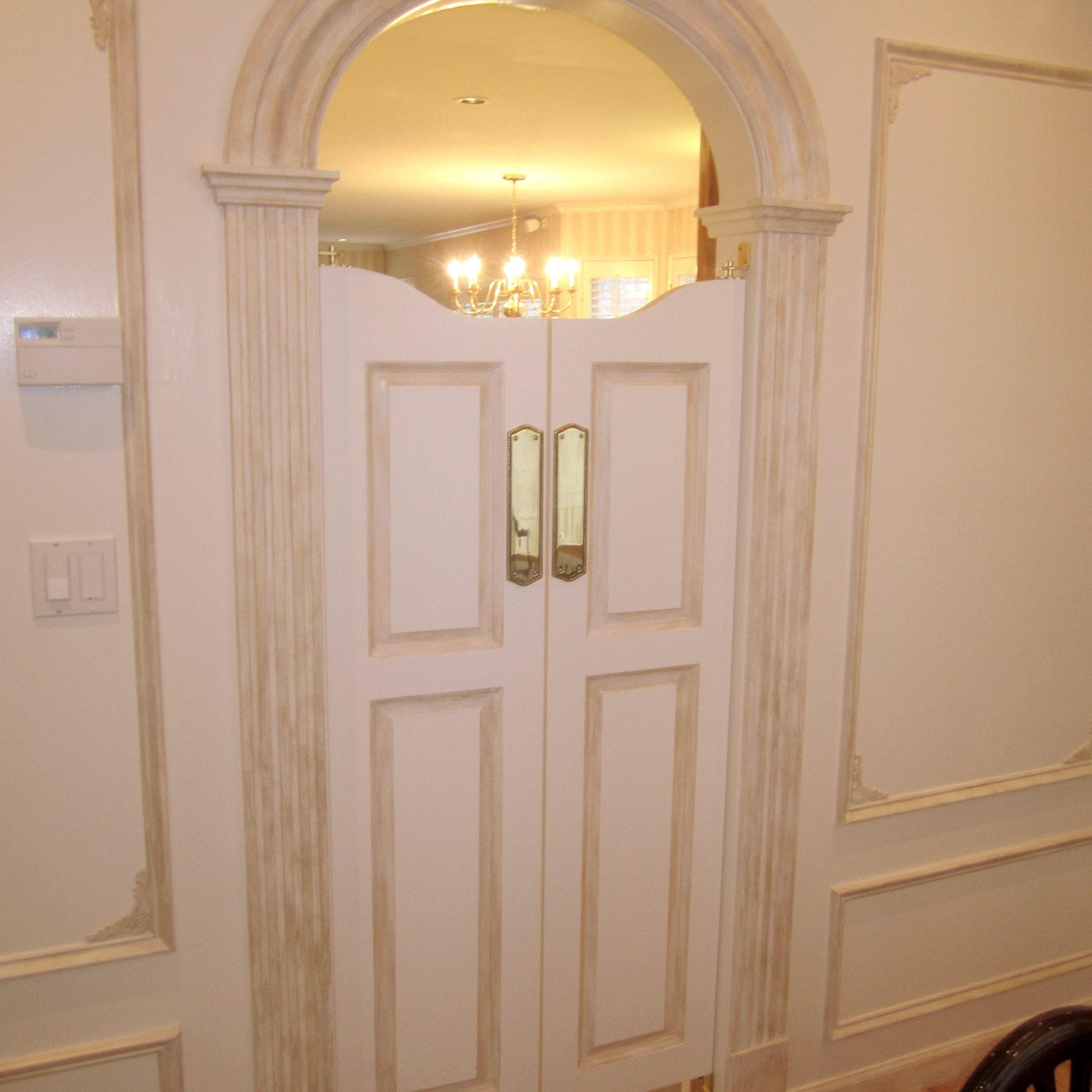 Charmant Custom Oak Full Length Swinging Interior Doors Cafe Doors / | Etsy