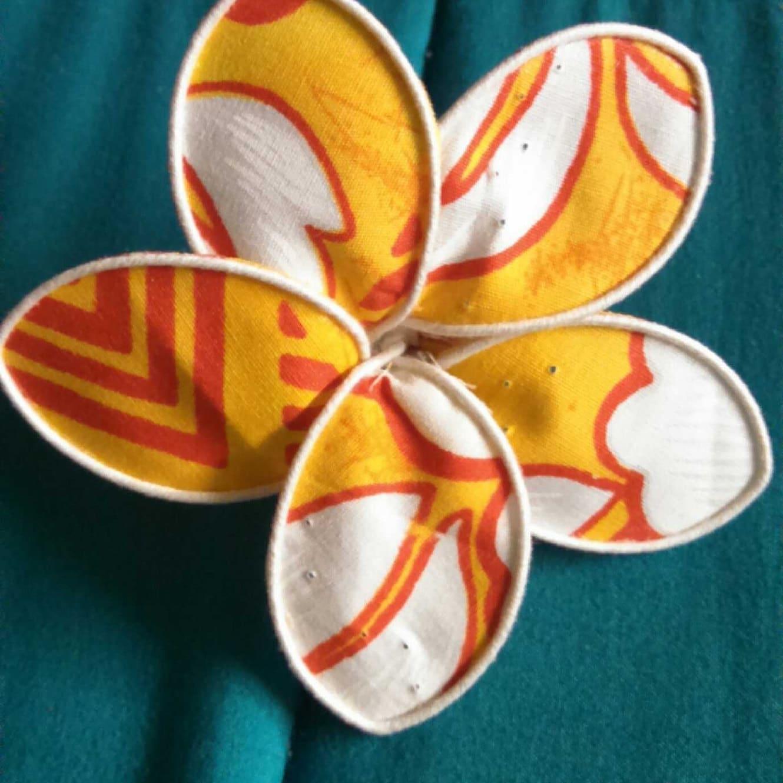 Seattle seahawks hawaiian plumeria fabric flower hair pick etsy alohafromtheheart izmirmasajfo