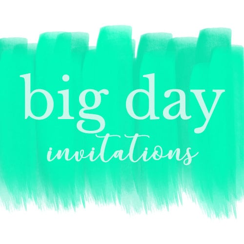 big day invitations by bigdayinvitations on etsy