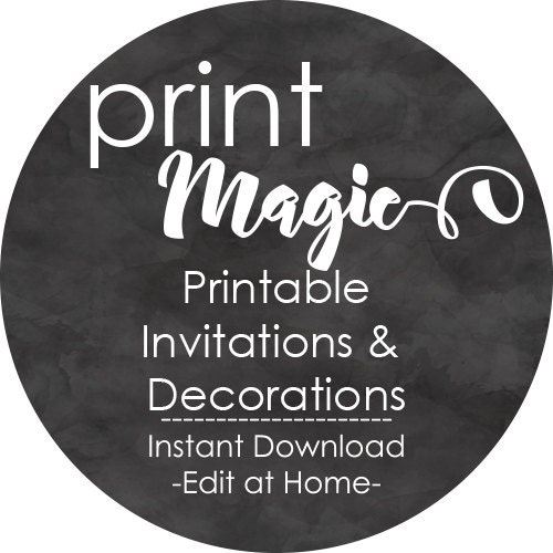 instant download invitations decorations party by printmagic