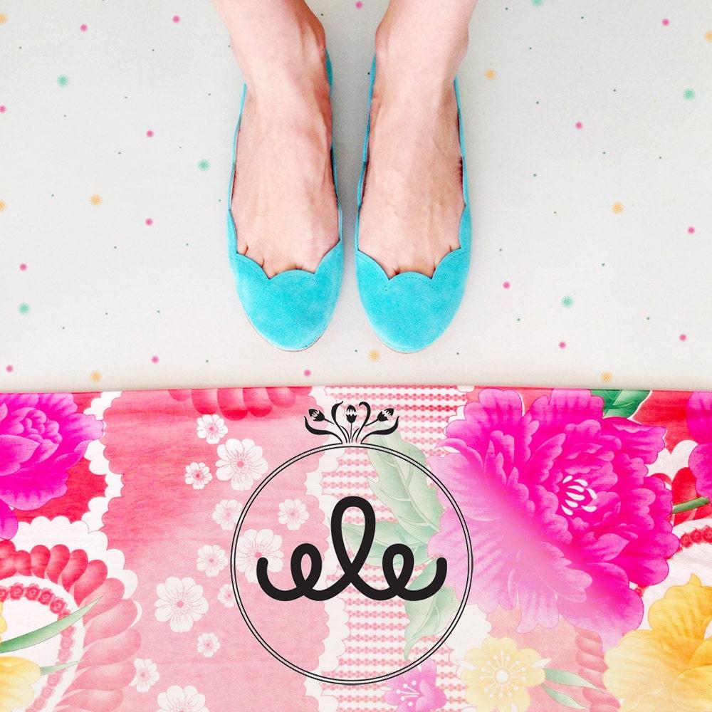 Ballet Flats Shoes Handmade in Italian Leather door elehandmade