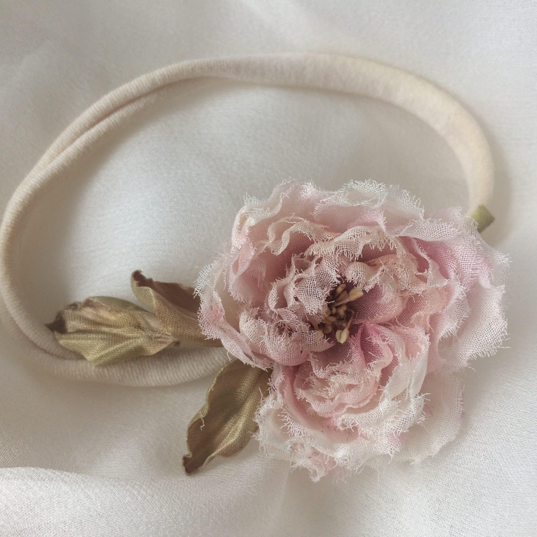Silk Flower Headband Wedding Silk Flowers Bridal Floral Etsy