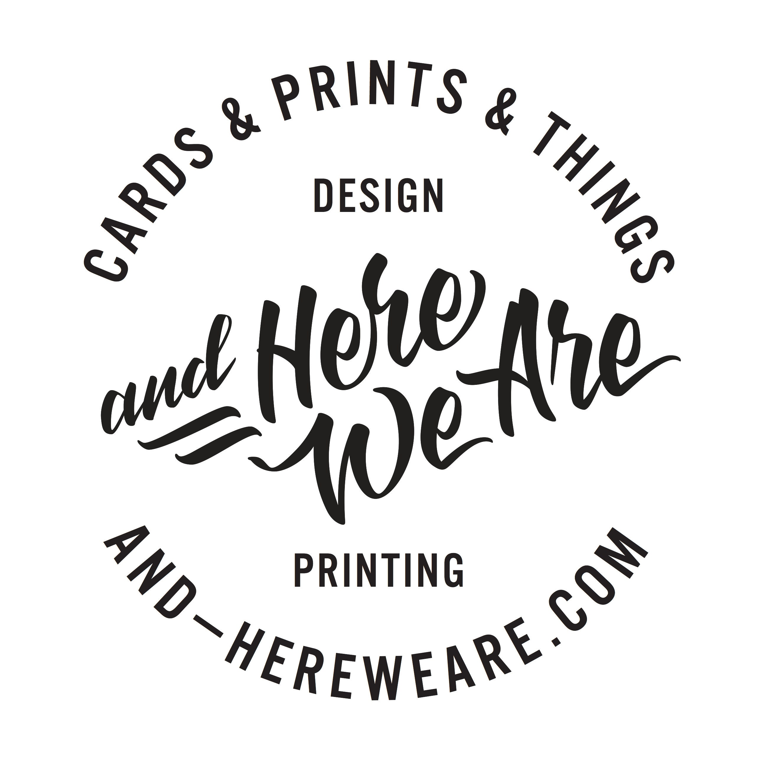 Modern letterpress printed lettering & by andHereWeAre on Etsy