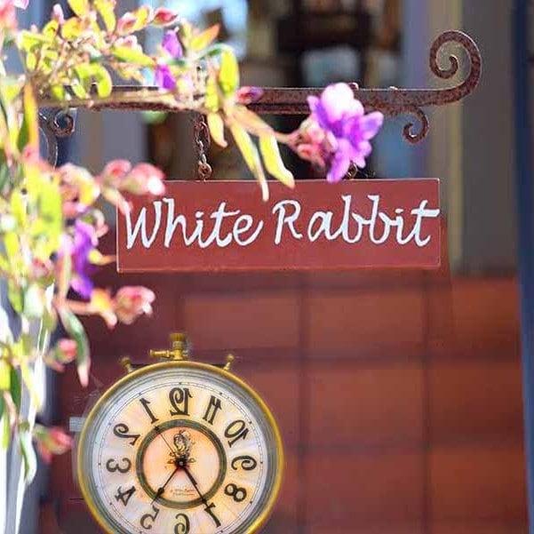 Alice in Wonderland Deep Red Wall Clock Mad Hatter Runs Backwards.