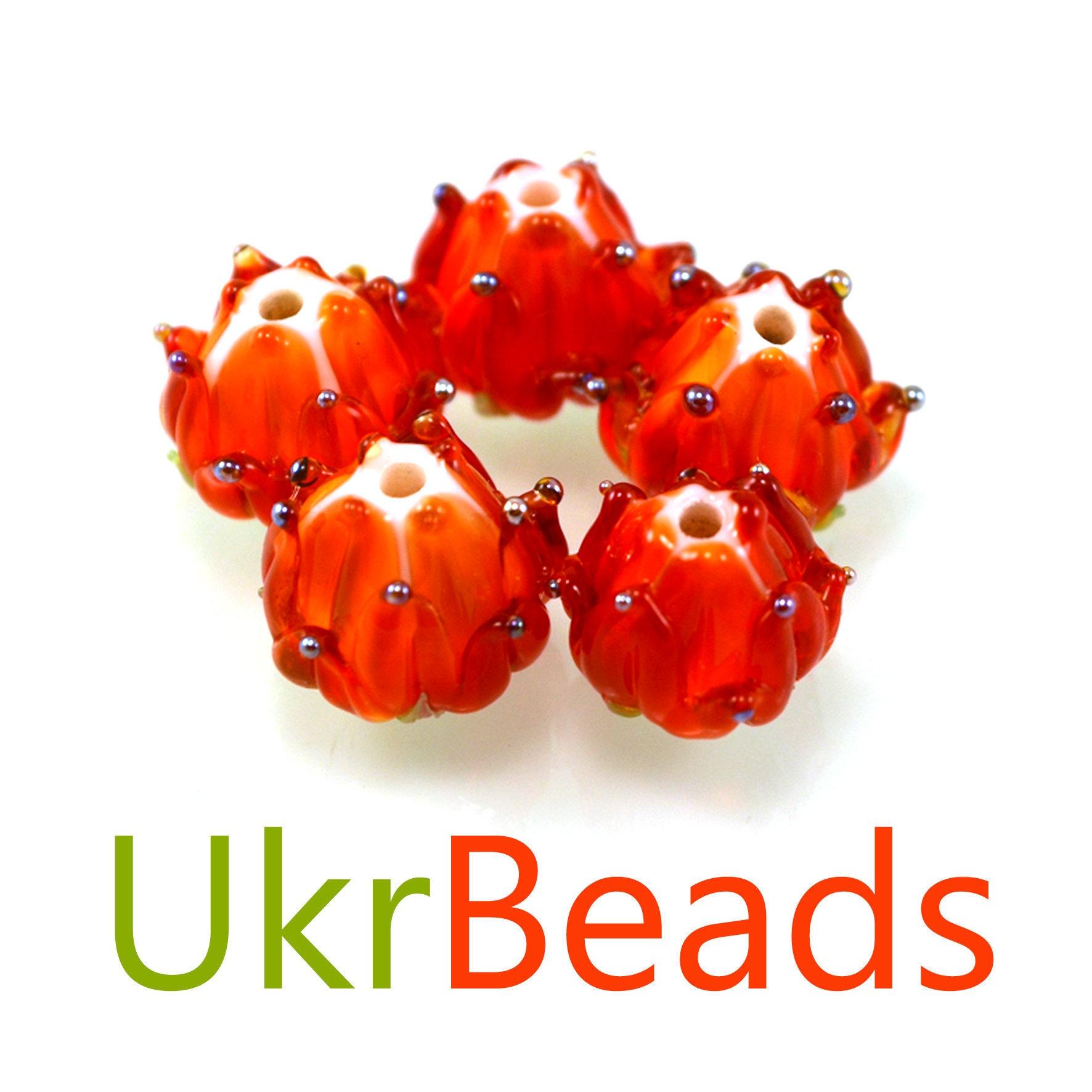 Lampwork bumble bee beads glass bee beads honey bee beads | Etsy