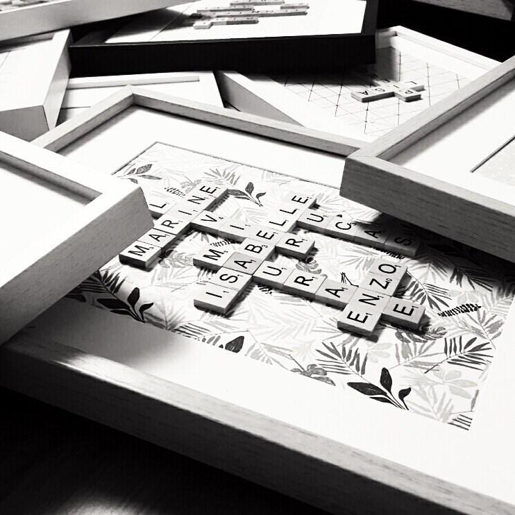 Scrabble-FlamantCoquette Rahmen | Etsy