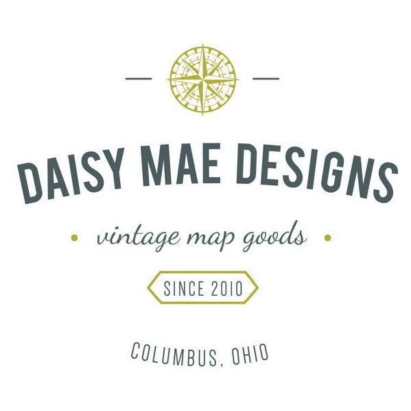 Handmade Vintage Map Jewelry and Home von DaisyMaeDesignsShop