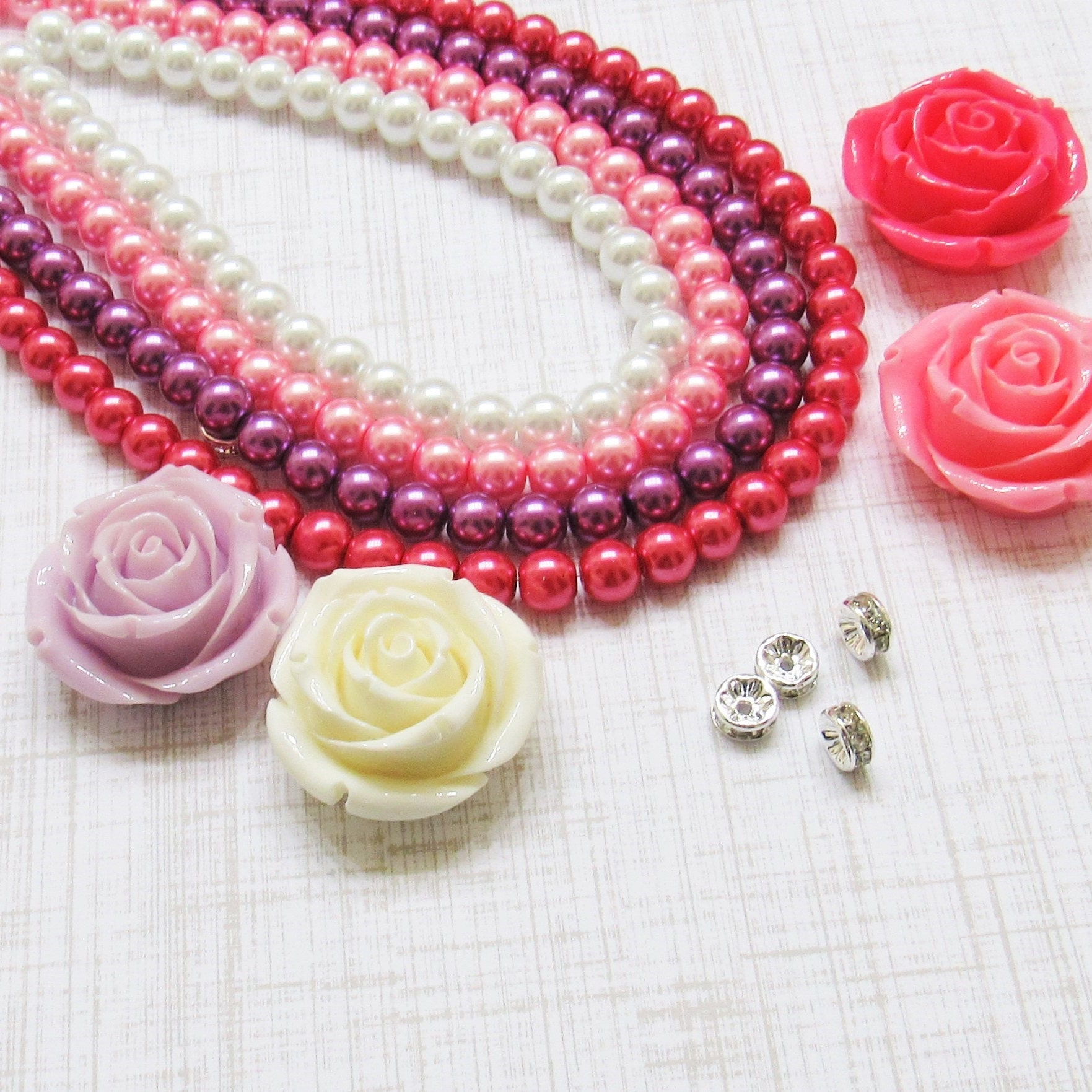 34mm Mickey Minnie Mouse Bubblegum Beads Transparent Acrylic | Etsy