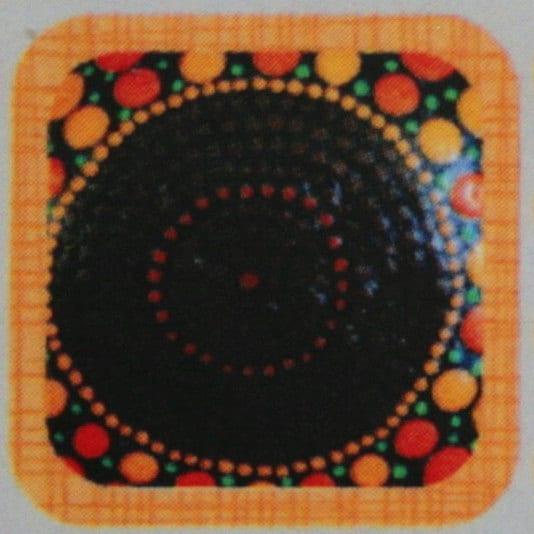 Painted Dot Art Yard Ornaments Mandala Rocks Brown Maroon Home Decor Gift Sets for Him Coffee Table Art Persian Art Indian Inspired Art