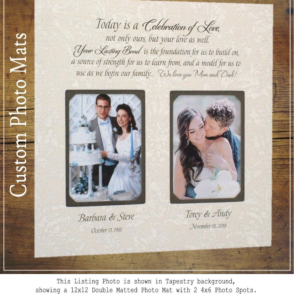 In Laws Wedding Gift Wedding Gift For Parents Personalized Etsy