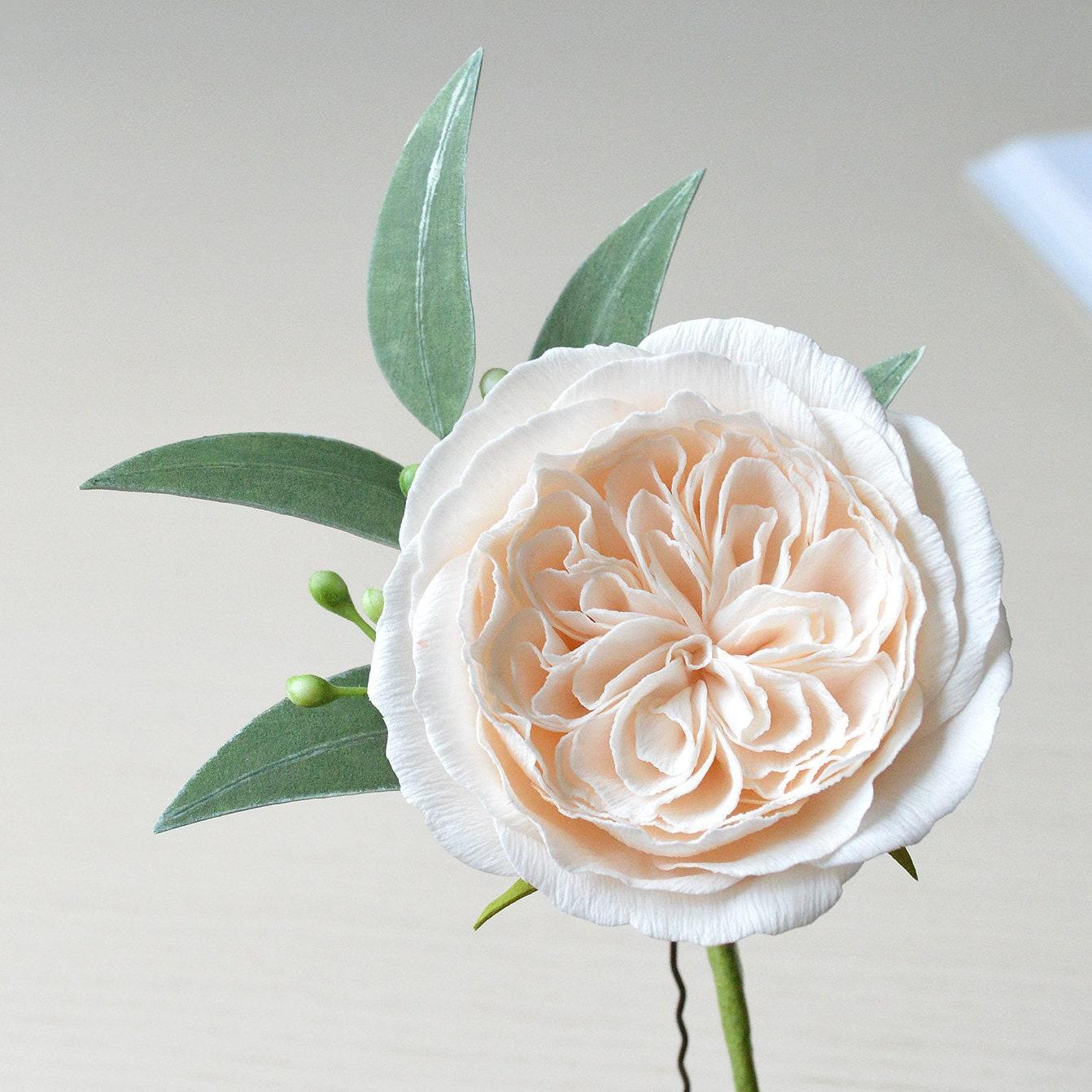 White Orchid Hair Clip White Flower Hair Clip Tropical Flower Etsy