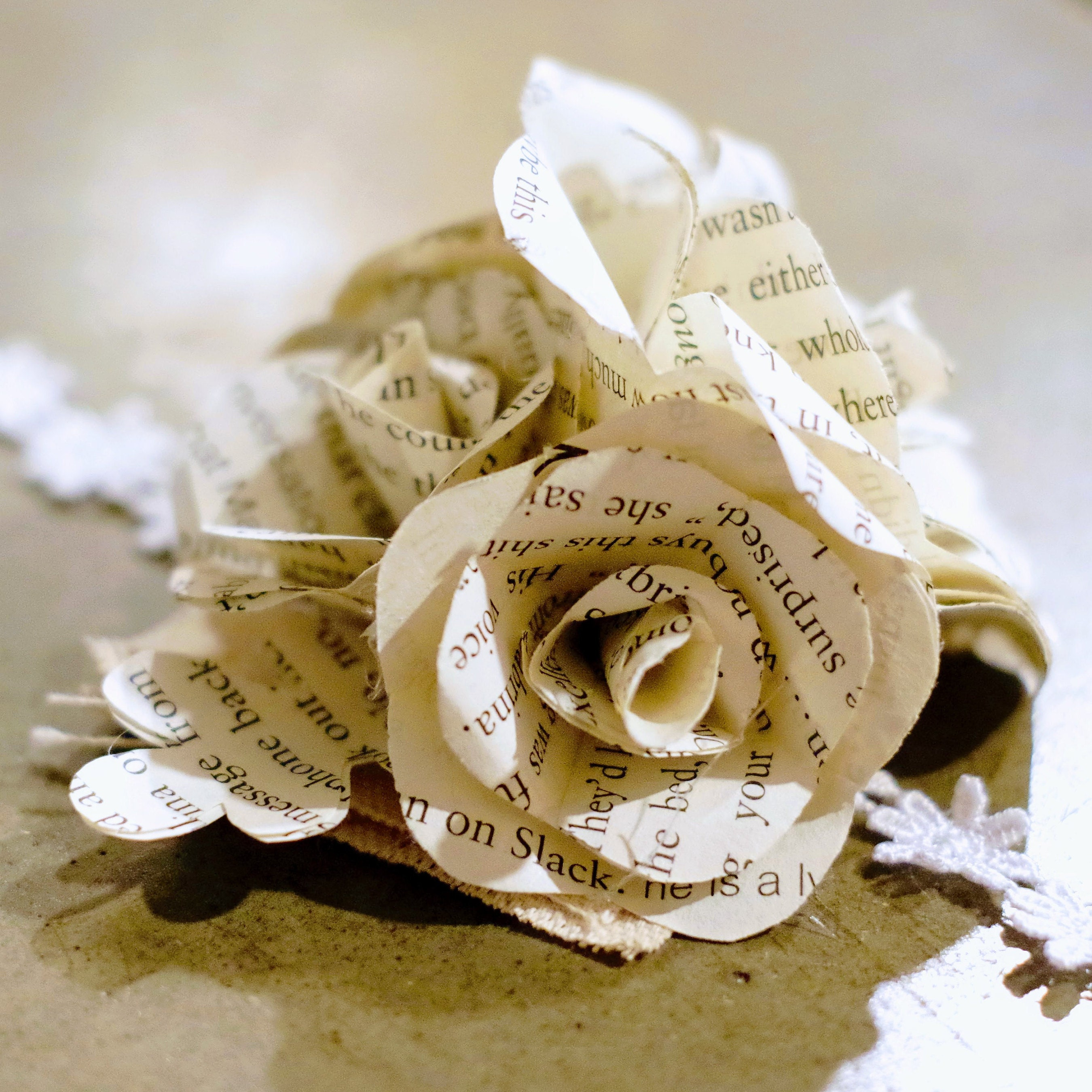 Book Flower Corsage Wedding Prom Paper Roses Sheet Music Book Etsy