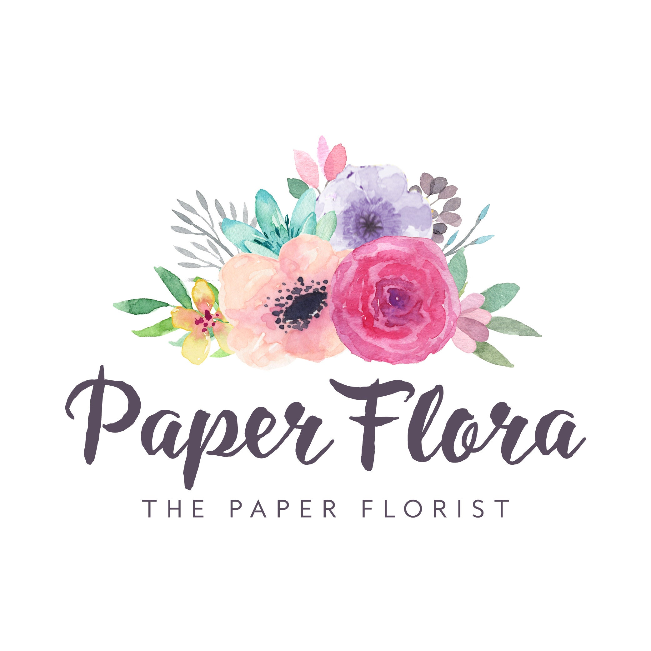 Paper Leaf Template Paper Craft How To Paper Flowers Paper Etsy