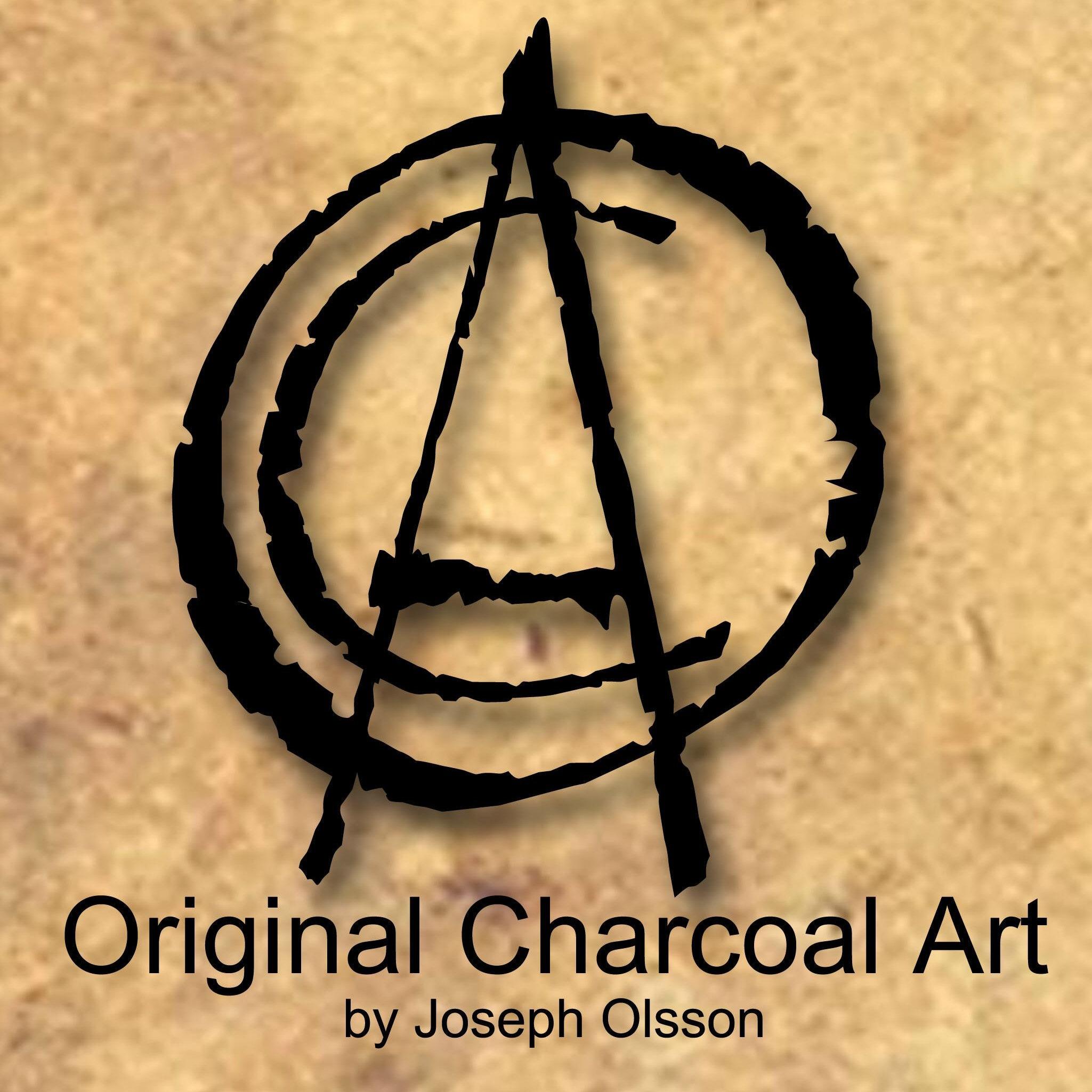 Original Charcoal Art by Joseph Olsson 18X24 Good Humor Brian Wilson