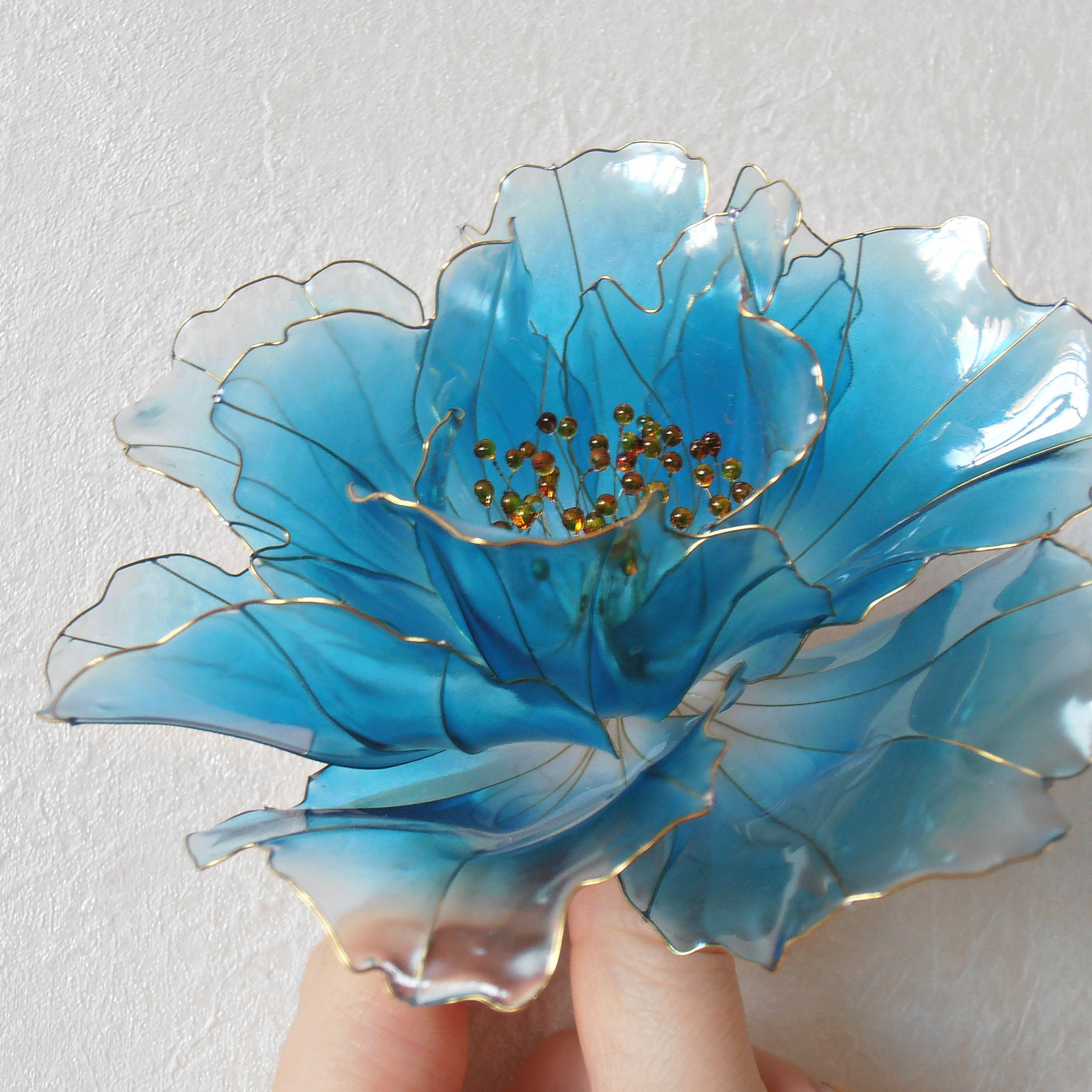 Jasmine flower hair pin wedding white accessories swarowski etsy pandastudioshop izmirmasajfo