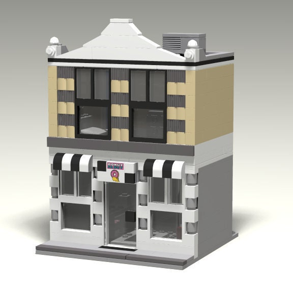 Hotel 32 Lego Modular Building Instructions Only Etsy