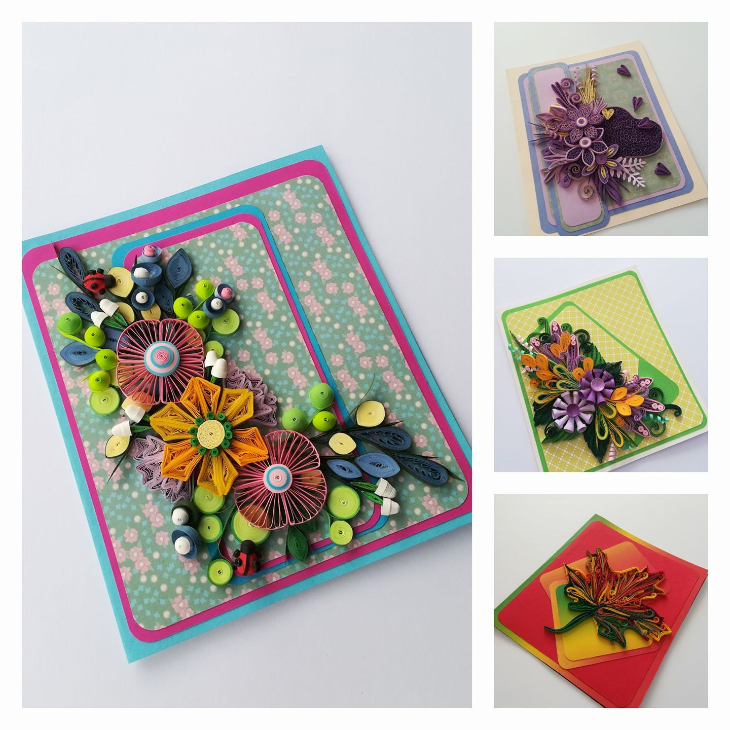 Handmade Quilling Paper Flower Wall Art Quilling Flowers Etsy